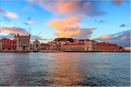 Terreiro do Paço seen from Tagus river