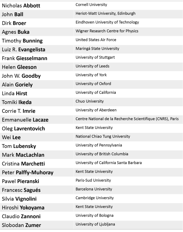 Keynote lecturers