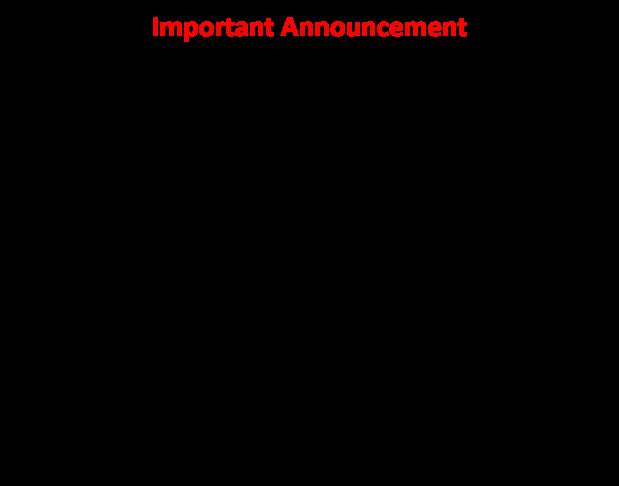 Important Announcement 1